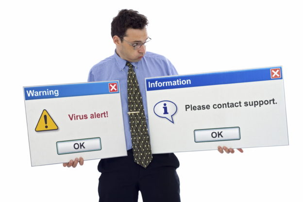 Virus alert! You have to contact support.